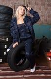 Borracho com pneus Imagens de Stock Royalty Free