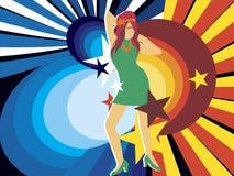 Borracho do disco Imagens de Stock Royalty Free