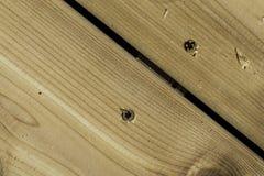 Borrade Wood skruvar Arkivfoton