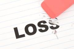 Borrador y pérdida de la palabra Imagen de archivo libre de regalías