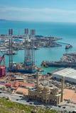 Borrande Rig Leaves Shipyard Arkivfoton