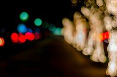 Borrar ilumina o fundo do bokeh, abstrai luzes circulares imagens de stock royalty free