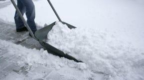 Borre la nieve Imágenes de archivo libres de regalías