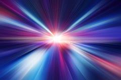 Borre o sumário azul do efeito do movimento da velocidade rápida da cor fotografia de stock royalty free