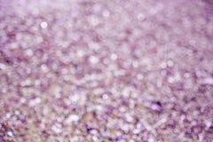 Borre os círculos violetas do bokeh do fundo roxo abstrato fotos de stock