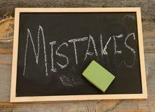 Borre su concepto de los errores fotos de archivo