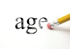 Borre su edad Imagen de archivo libre de regalías
