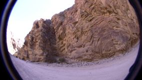 Borrego Desert California Off Road - Jeep Drive By stock footage