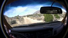 Borrego Desert Off Road California. Borrego Desert Off Road Highway - In vehicle POV - California USA stock footage