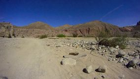 Borrego Desert Off Road - Fish Creek Canyon. Borrego Desert Off Road - Desert Wash Fish Creek - Borrego Desert California USA - Sandstone Canyon area stock video