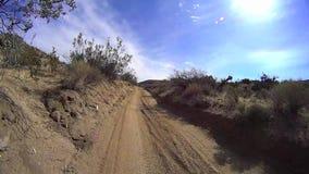 Borrego Desert Off Road - Old Dirt Road 2. Borrego Desert California - Sandstone Canyon USA stock video