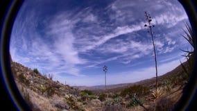Borrego Desert and Sky Scene. Fish Eye Lens Borrego California USA stock footage