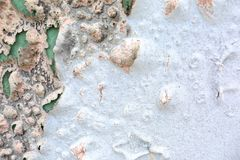Borrelende Verf op de Textuur van de Muurclose-up stock foto