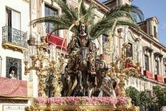 Borriquita团体,圣周在塞维利亚 库存照片