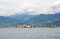 Borromean öar - ön för Isola Superiore fiskare` s på sjön Maggiore - Stresa - Italien royaltyfri foto
