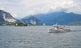 Borromean öar - den Isola Bella Beautiful ön på sjön Maggiore - Stresa royaltyfria bilder