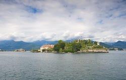 Borromean öar - den Isola Bella Beautiful ön på sjön Maggiore - Stresa arkivfoto