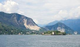 Borromean öar - den Isola Bella Beautiful ön på sjön Maggiore - Stresa arkivbild