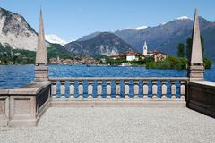 Borromean islands in Lake Maggiore of Italy Royalty Free Stock Images