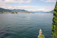 Borromee öar - moderön Isola Madre på sjön Maggiore - Stresa - Italien royaltyfri foto