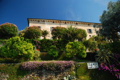 The borromeo palace on Isola Madre, Lake Maggiore Royalty Free Stock Image