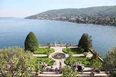 Borromeo Palace and Lake Maggiore Stock Photo