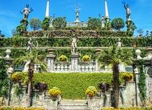 Borromeo villaträdgård royaltyfria bilder