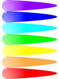 Borrones de transferencia brillantes del color Foto de archivo