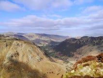 Borrowdale sjöområde från Eagle Crag Royaltyfri Bild