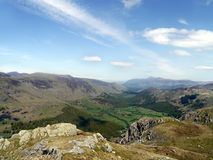 Borrowdale valley viewed from Rosthwaite Fell Stock Photo