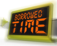 Borrowed Time Digital Clock Shows Terminal Illness And Life Expe Stock Images