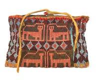 Borsa bordata nativo americano isolata. Fotografia Stock Libera da Diritti
