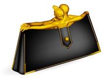 Borsa con le siluette Fotografie Stock Libere da Diritti
