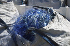 Borsa con una rete da pesca Fotografia Stock Libera da Diritti