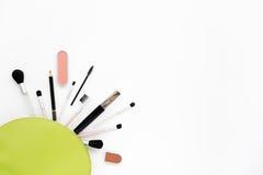 Borsa cosmetica verde chiaro Immagine Stock