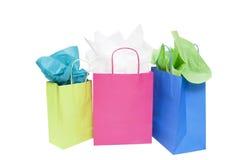 Borsa dei regali di acquisto Fotografia Stock