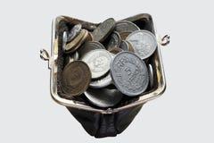 Borsa dei soldi Fotografie Stock