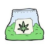 borsa del fumetto dell'erbaccia Fotografia Stock