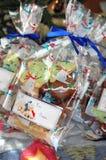 Borsa del regalo di Natale dei biscotti Fotografia Stock