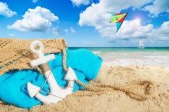 Borsa della spiaggia Fotografie Stock Libere da Diritti
