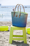 Borsa della spiaggia Fotografia Stock