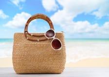 Borsa della spiaggia Fotografie Stock