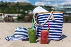 Borsa della spiaggia immagini stock libere da diritti