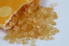 Borsa dello zucchero bruno Immagini Stock