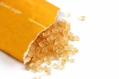 Borsa dello zucchero bruno Fotografie Stock