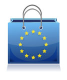 Borsa di acquisto europea Fotografia Stock