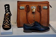 Borsa di cuoio e scarpe Fotografie Stock Libere da Diritti