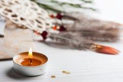 Borsa di Kraft del regalo e collettore di sogno beige Fotografia Stock Libera da Diritti