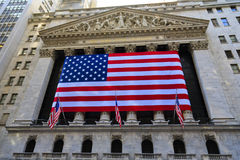 Borsa di New York all'esterno Immagine Stock Libera da Diritti