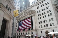 Borsa di New York, Wall Street Fotografia Stock